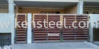 wood colour main gate66 Stainless Steel Wood Colour Main Gate