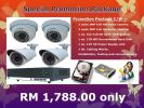 Promotion Package for 4 Channel FULL HD CCTV System.
