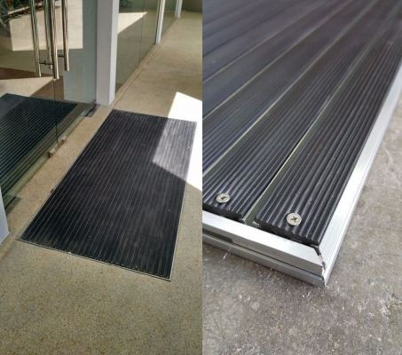 ANTI SLIP BLACK RUBBER STRIPES