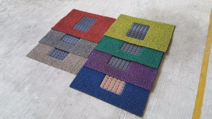 Driver Mat Car Mat (Nail Backing) - Two Tone