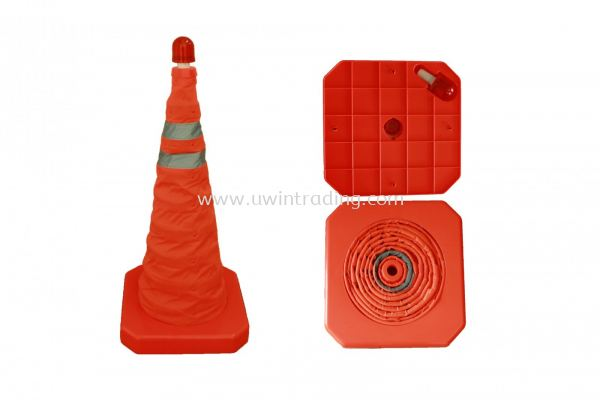 Retractable Traffic Cone c/w Light