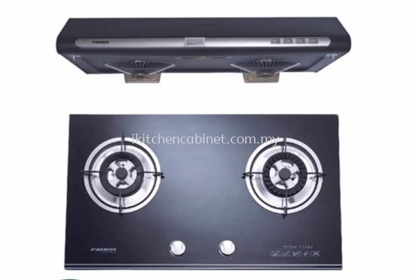 KA11 - slim cooker hood and glass hob