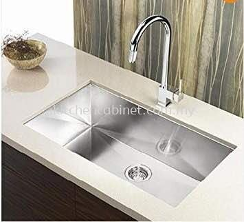 KA10 - single bowl ssteel sink and water tap
