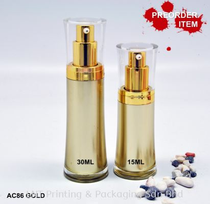 AC86 GOLD ACRYLIC BOTTLE WITH PUMP