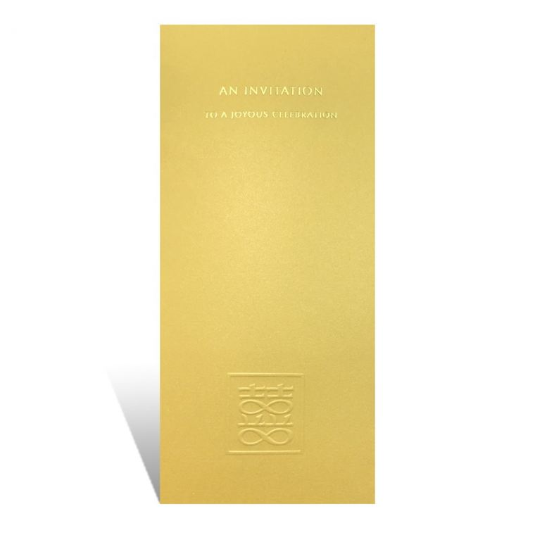 WP020(Gold) Elegant Series Chinese Invitations