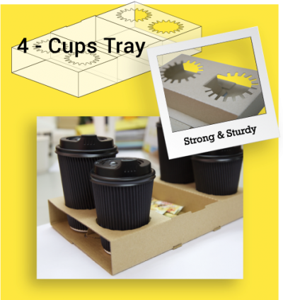 4-Cups Tray