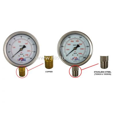 "PRESSURE GAUGE 4""(100MM)X1/2"" NPT BOTTOM (OIL)"