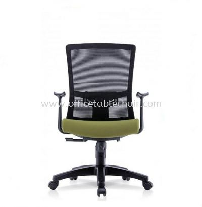 NIMO 1 MEDIUM BACK MESH CHAIR WITH FIXED T SHAPE ARMREST 1MB