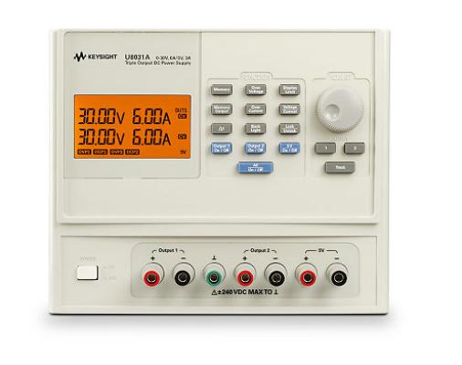 Triple Output DC Power Supply, 30V/6A (2x) & 5V/3A, 375W, U8031A