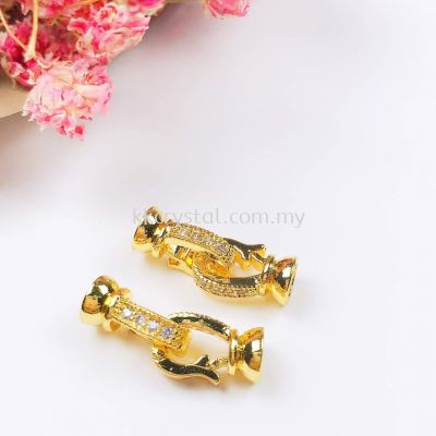 Clasp, Code 0283023, Gold Plated, 2pcs/pkt