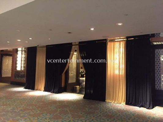 Entrance Drape (Black & Gold)