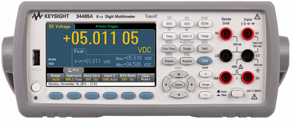 Digital Multimeter 6.5 digit, 34465A (Replacement for 34410A/34411A)