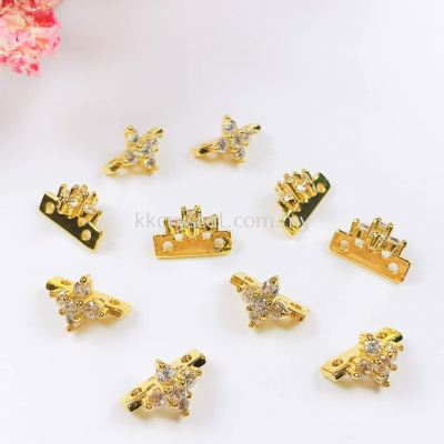 Diverter Flower, Code 0283025, Gold Plated, 10pcs/pkt