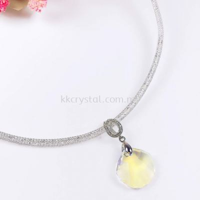 Stardust Necklace, White Gold Plated, 1pcs