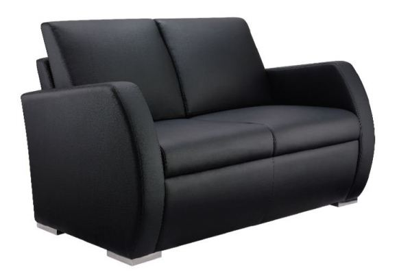 Zita Two Seater Sofa with Armrest