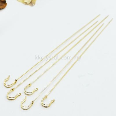 Brooch, Stick Pin, 14cm, Gold Plating, 019032, 10pcs/pkt