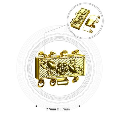 Fashion Clasp, H1544, 4Holes, Gold, 4pcs/pkt (BUY 1 GET 1 FREE)