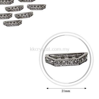 Fashion Rhinestone Diverter, S6940 Silver Crystal 21mm, 10pcs/pkt (BUY 1 GET 1 FREE)