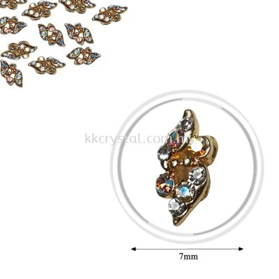 Fashion Rhinestone Diverter, S1002 Gold Crystal AB 7mm, 10pcs/pkt (BUY 1 GET 1 FREE)
