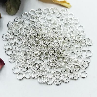 Jump Ring, 0.8x4mm, Silver Plating