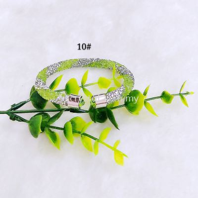 Bangle Bling2, 1 Layer, Twist Color, 10# Peridot Silver