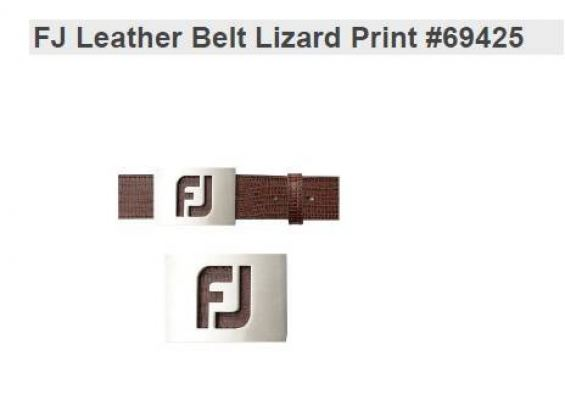 FJ Leather Belt Lizard Print New 69425