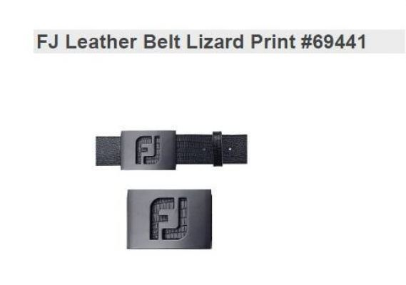 FJ Leather Belt Lizard Print New 69441