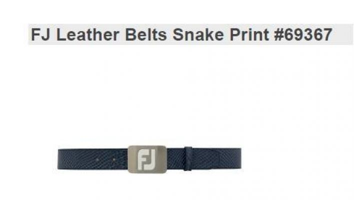 FJ Leather Belts Snake Print New 69367