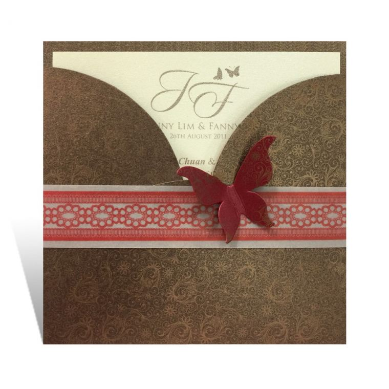 MKC(Copper) Butterfly Card Series Chinese Invitations
