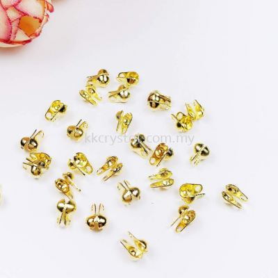 Beads Tip, Double Loop, Gold Plating, 019036