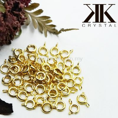 Clasp Style Q, Gold Plating, 50pcs/pkt