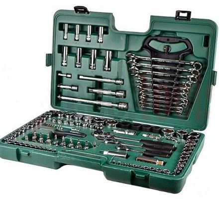 Sata 121pc 1/4'''+3/8''+1/2''DR.Socket Set 09014A