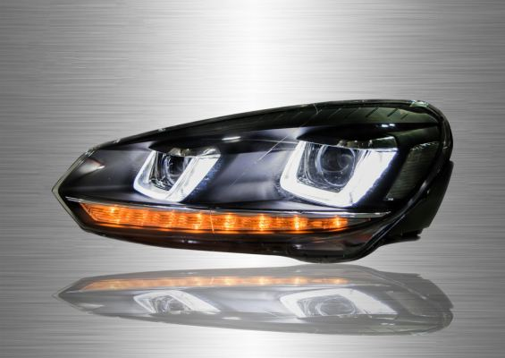 Golf 6 (G7 Design) LED Light Bar Head Lamp 08-13