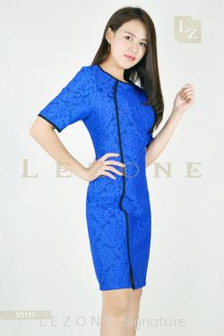 93111 EMBOSS FLOWER CHEONGSAM DRESS【BUY 2 FREE 3】
