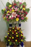 Congratulation Arrangment (CA-179) 2 Level Opening Flower Arrangement Congratulations Arrangement