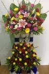 Congratulation Arrangment (CA-179) 2 Level Opening Flower Arrangement Congratulations Arrangement