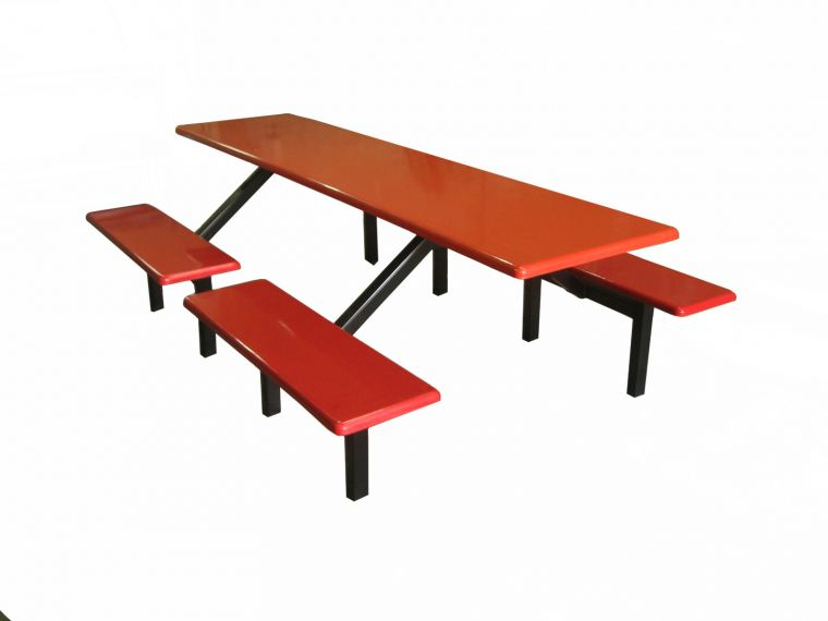 AK 802DS - FIBREGLASS TABLE WITH BENCH 8 Seater Canteen Furniture Fibreglass Furniture