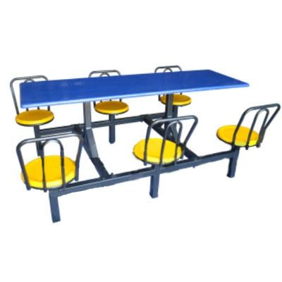 AK 603 BR (S) - FIBREGLASS TABLE WITH STOOL 6 Seater Canteen Table (Fibreglass Table Top) Fibreglass Furniture