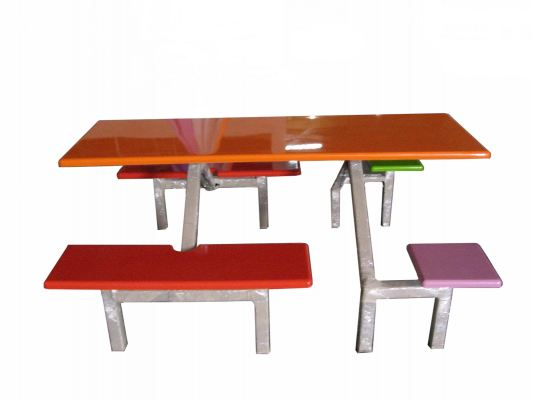 AK 602SQ - FIBREGLASS TABLE WITH BENCH