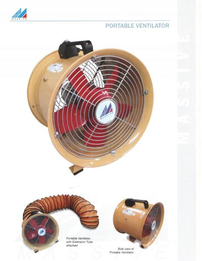 "MassiveFan PTV-30 12"" Portable Blower Fan"
