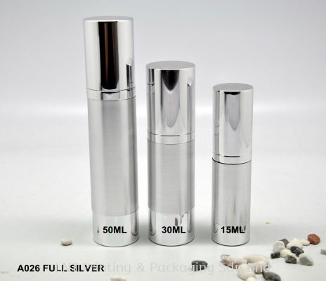 A026 FULL SILVER AIRLESS BOTTLE