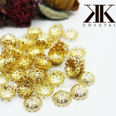 Beads Cap, 12mm, X2054, Gold Plating, 205434