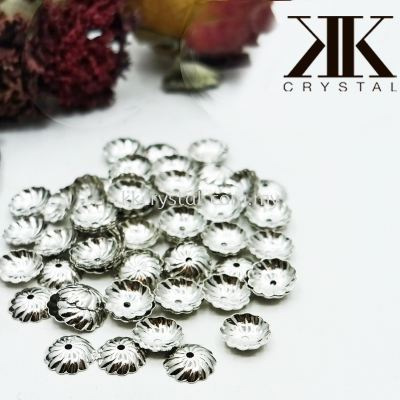 Beads Cap, X1107, 10mm, Plated, 110714