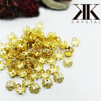Beads Cap, 7mm, Gold Plating, 200132