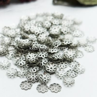 Beads Cap, X2013, 6mm, Plated, 013014