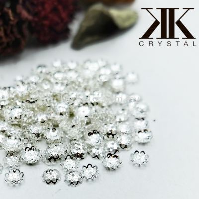 Beads Cap, X338, 6mm, Silver Plating, 338021