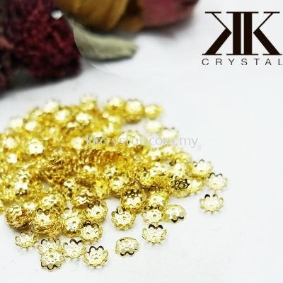 Beads Cap, X338, 6mm, Gold Plating, 338038