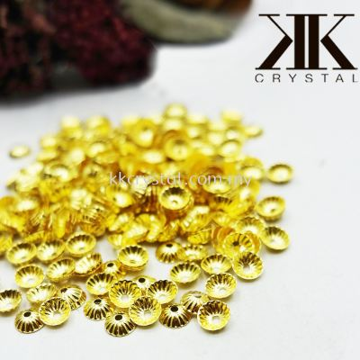 Beads Cap, P110201, 5mm, Gold Plating, 110233