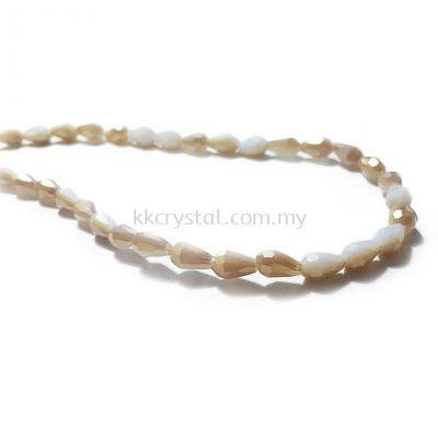 Crystal China, Teardrop 04mm, B287 Golden Shadow Alabaster AB
