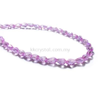 Crystal China, Teardrop 04mm, B108 Violet AB